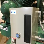Our Single-Phase 230 Volt Vertical Compressor comes with a mounted & prewired magnetic motor starter.